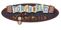 "Title treatment for ""Wonderland,"" the first book in The Storyworlds series by Adam Lesh"