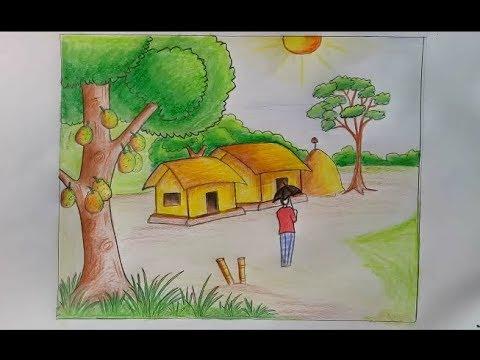 رسم منظر طبيعي سهل للاطفال احلى الرسومات للاطفال قصة شوق
