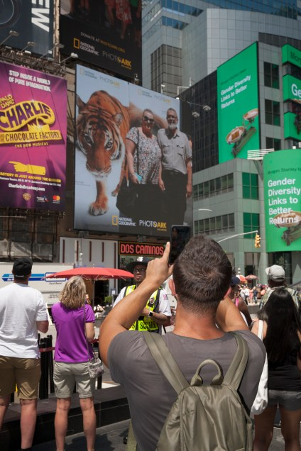 Nat Geo PhotoArk Event in Time Square