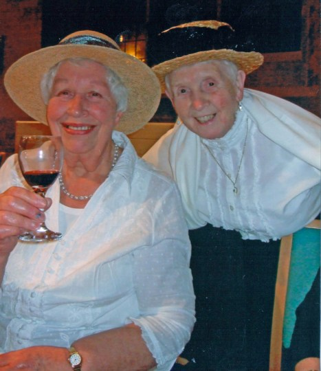 the Centenary Edwardian Supper, held in church in 2008 (with Mary Houghton on the right)