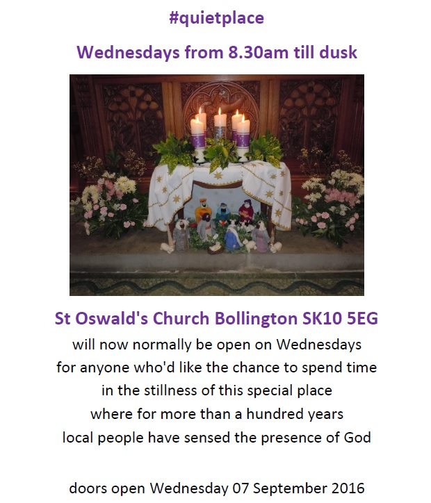 Church open Wednesdays – From September onwards