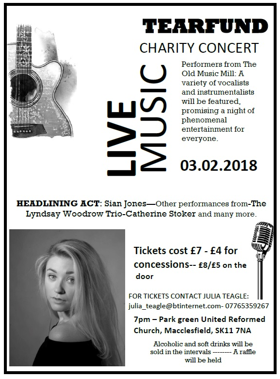 Concert for Tearfund – Sat. 3 February