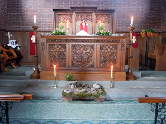The High Altar with Easter Garden