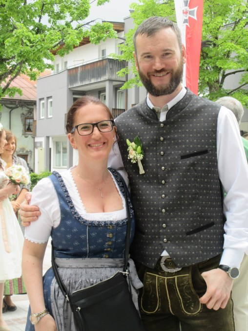 Natalie and Matthew in Austrian attire!
