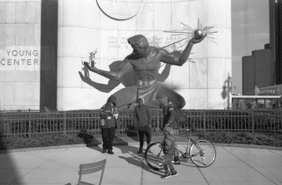 Spirit of Detroit on JCH Streetpan 400