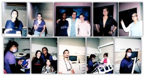 Compiled polaroid photos of the smile team at Stouffville Smiles Dentistry