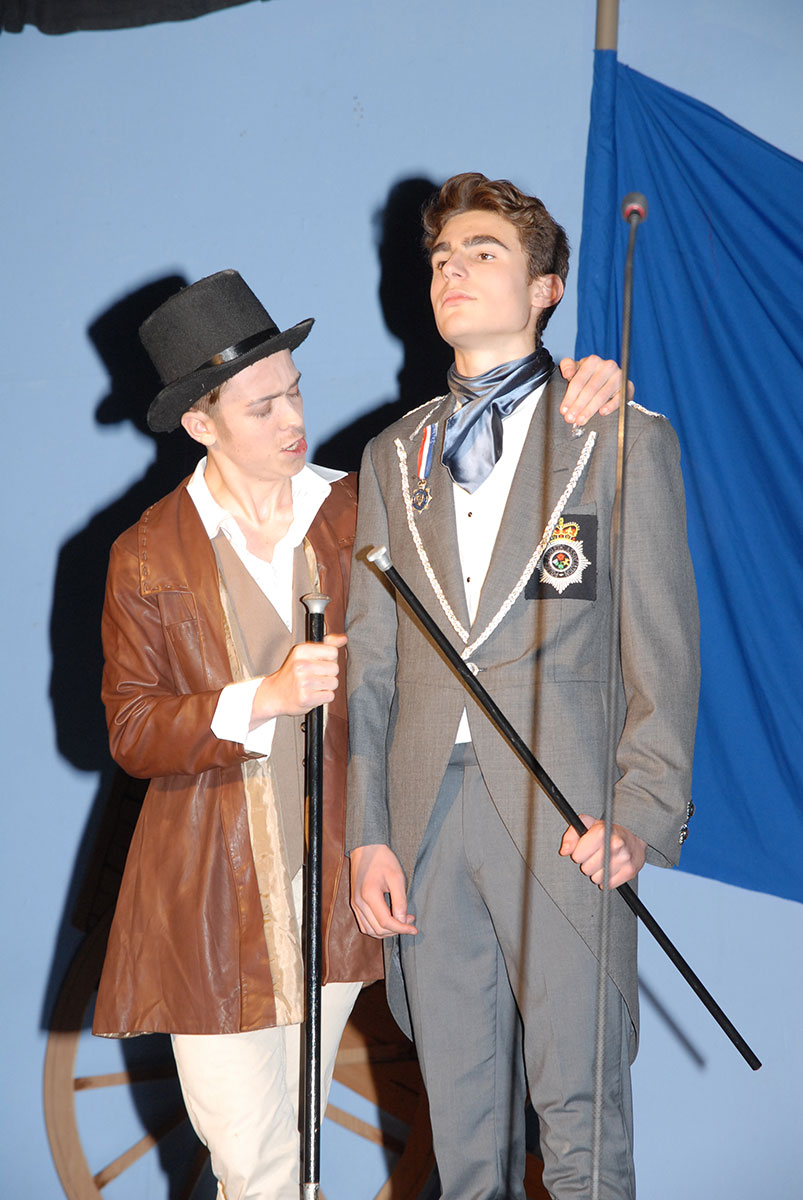 Kidderminster Les Miserables - Cast members Year 12 students James Bishop (17 years old) and Louis Bent (16 years old)