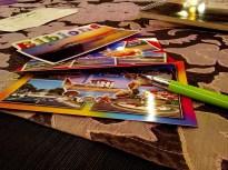 21:22 - Dann erst mal Ansichtskarten für die Großeltern und meiner Familie schreiben.