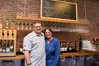 The Barrel Room owners: Rick and Mary Bygd