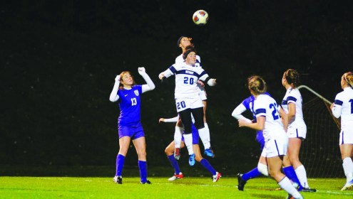 UW-Stout faced off against 13th ranked University of St. Thomas. / UW-Stout Sports Information photos