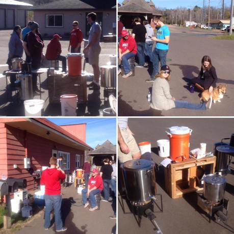 "Caption for picture 'Brew Day 2016': Members of BCSA enjoy their ""Brew Day"" this past November."