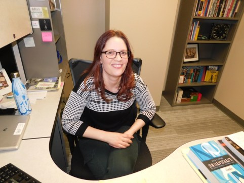 Dr. Rickie-Ann Legleitner, new to the UW–Stout English Department.