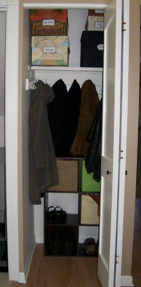 Turn Your Closet Into A Mini Mud Room Stow Amp Tellu