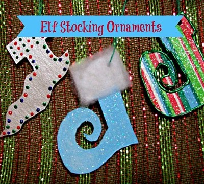Elf Stocking Ornaments
