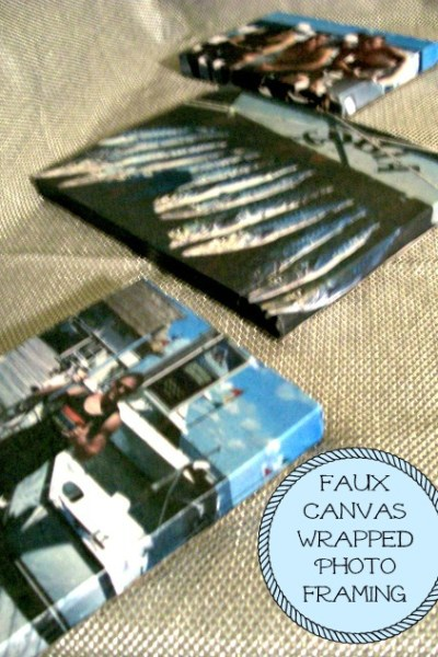 Faux Canvas Wrapped Photo Framing