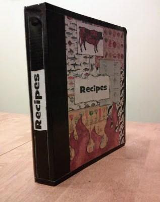 Diy Recipe Book Binder