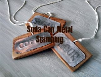 Soda can metal stamping