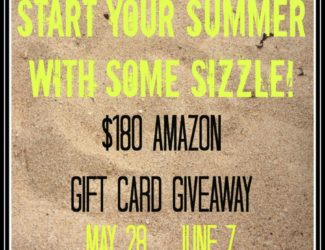 Summer Sizzle Amazon Gift Card Giveaway