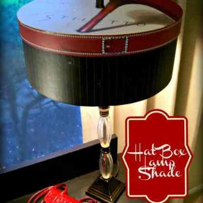 From Hat Box to DIY Lamp Shade