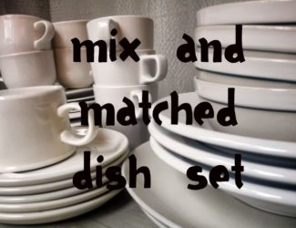 mix and matched dish set