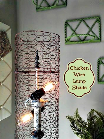 Diy Chicken Wire Lamp Shade Stow Amp Tellu