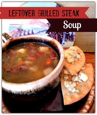 Left over Grilled Steak Soup More or Less