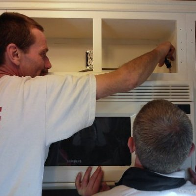 Scout's Honor Modified Cabinet for Microwave Install