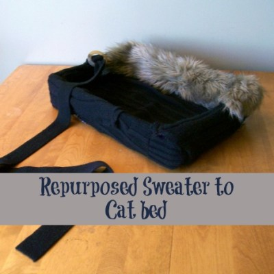 Turn an Old Sweater into a Cat Bed