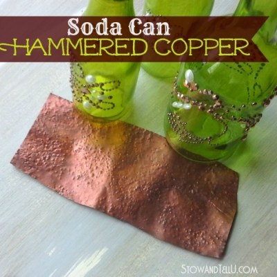 Faux Hammered Copper on a Soda Can