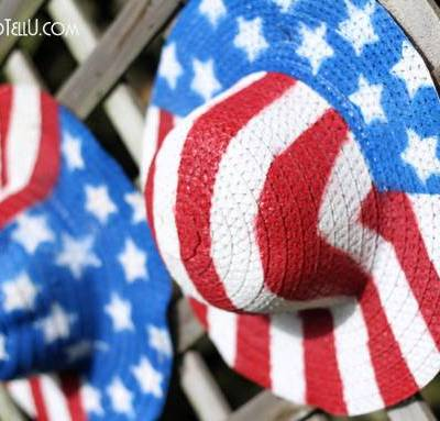 Patriotic Straw Hats {Stars and Stripes Blog Tour}