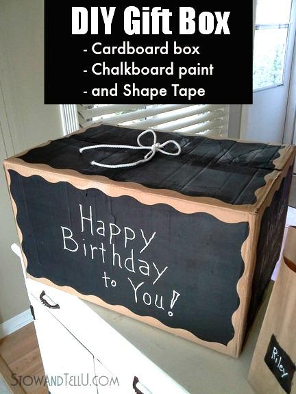 DIY-Gift-Box-chalkboard-paint-shape-tape