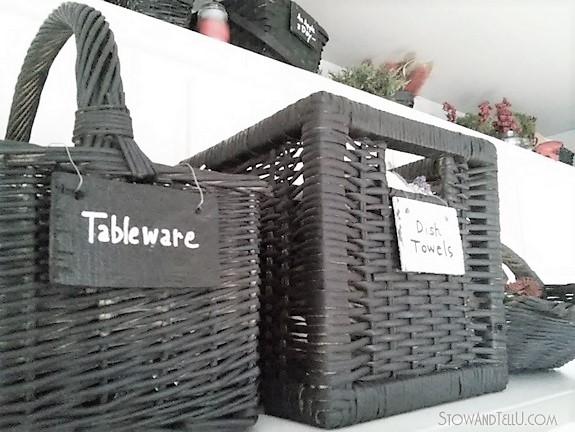 DIY Chalk Painted Storage Baskets | stowandtellu