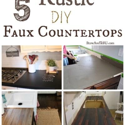 5 Rustic DIY Faux Countertops