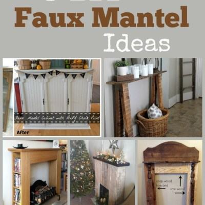 5 DIY Faux Mantel Ideas