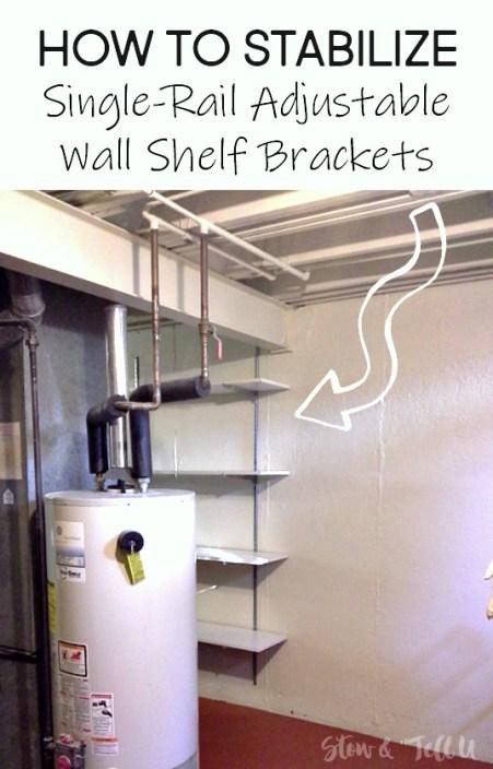 How to Stabilize Single-Rail Wall Shelf Brackets | stowandtellu