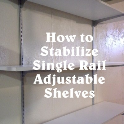 How to Stabilize Adjustable Wall Shelves