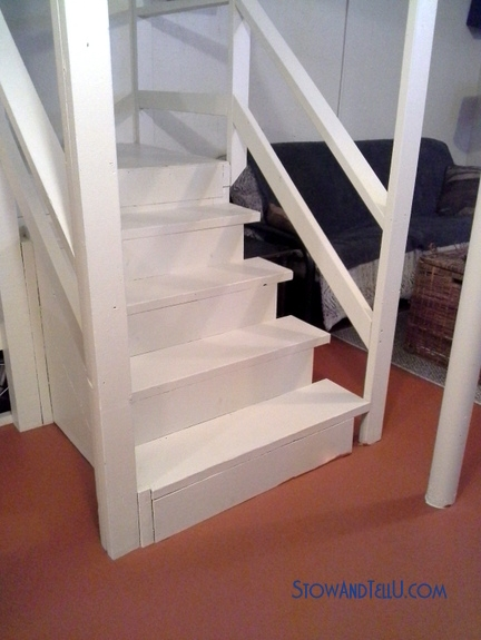 How To Paint Basement Stairs The Fastest Easiest Way | Stairs Leading To Basement | Beautiful | Painted | Unfinished Basement | Metal | Basement Peaked Roof