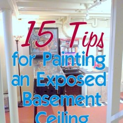 15 Tips for Painting an Exposed Basement Ceiling