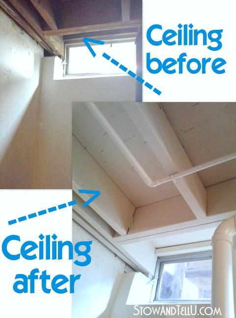 painting-tips-exposed-basement-ceiling-http://www.stowandtellu.com