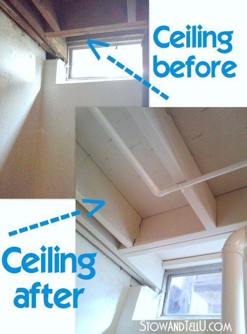 painting-tips-exposed-basement-ceiling-http://www.stowandtellu.com