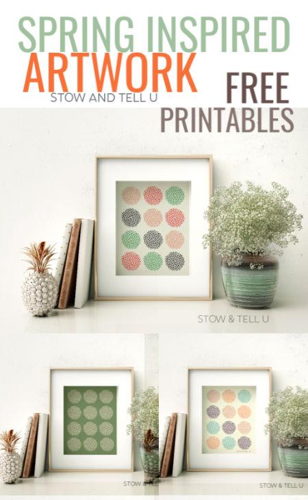 Colorful Spring-Easter Artwork Framed Printables