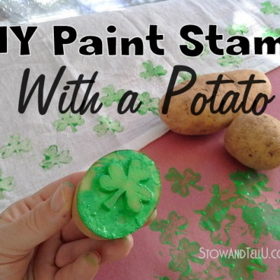 Shamrock DIY Paint Stamp from a Potato