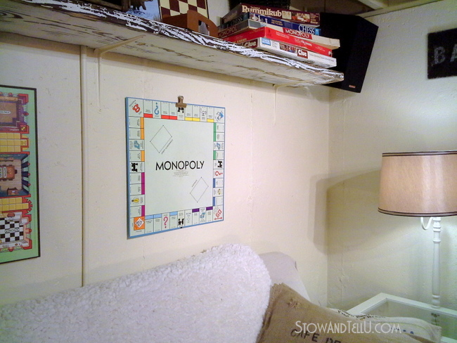 gameroom-decor-basements-how-to-make-board-game-art-http://www.stowadtellu.com