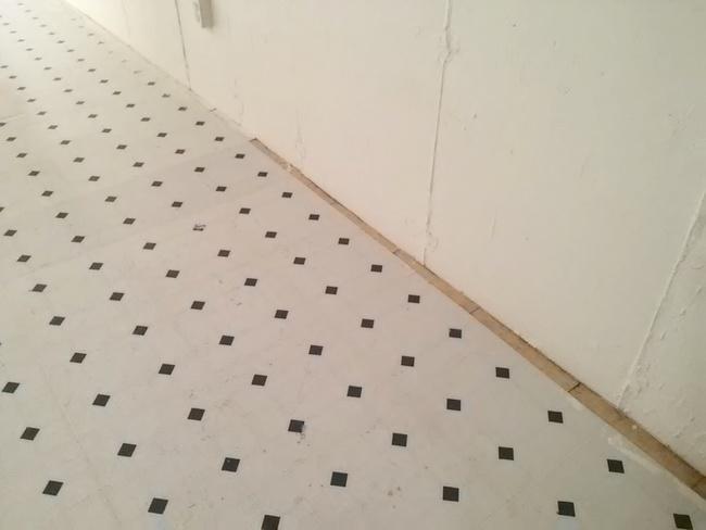 painted vinyl basement floor