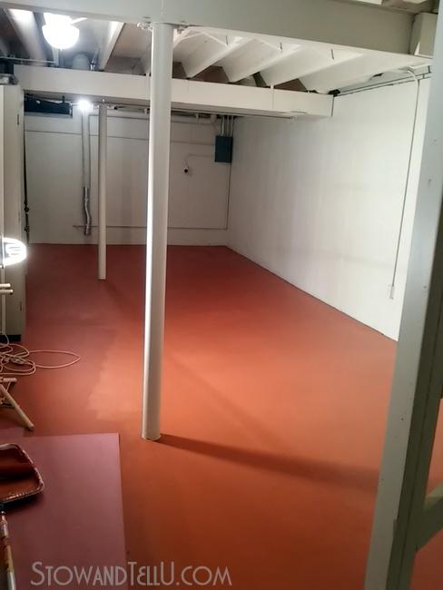 Painted Basement Floor Http://www.stowandtellu.com