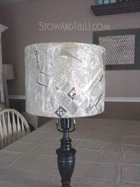 vintage-newspaper-craft-lamp-shade-https://stowandtellu.com