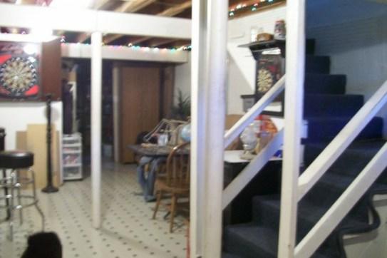 exposed-beam-ceiling-basement-before