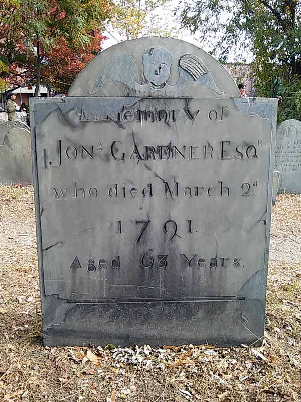 Gravestone in Salem Massachusetts