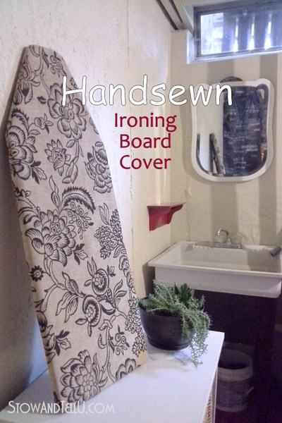 diy handsewn ironing board cover