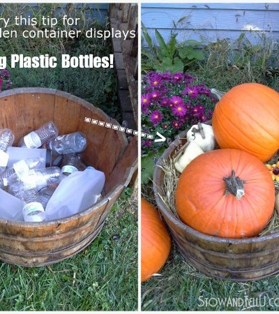 large gardening container tip, outdoor, wedding, party container decorating idea